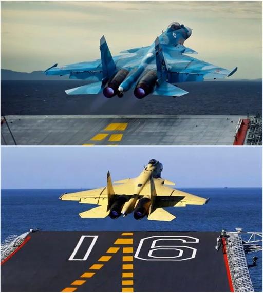 China Military - Chinese Shenyang J-15 Flying Shark and Russian Sukhoi Su-33