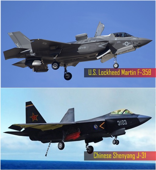 China Military - Shenyang J-31 and Lockheed Martin F-35B Lightning II