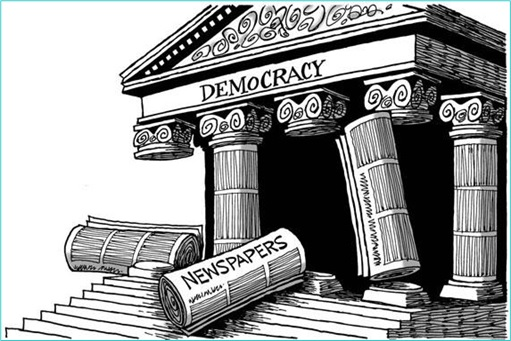 Democracy - United States - Fourth Pillar - Media Newspaper