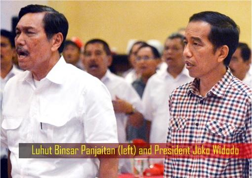 Haze Crisis - Indonesian Luhut Binsar Panjaitan and President Joko Widodo
