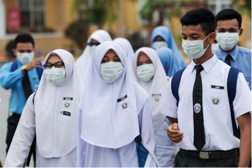 Haze Crisis - Malaysian Students Wearing Masks