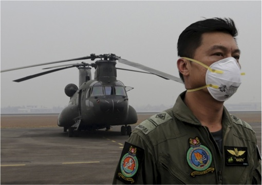 Haze Crisis - Singapore Air Force's Chinook Helicopter