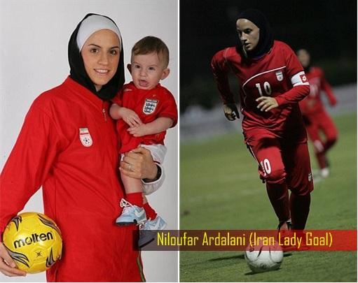 Iran Women Football Team - Iran Lady Goal Niloufar Ardalan