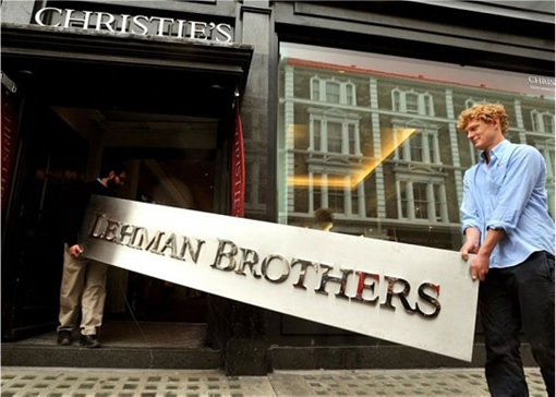Lehman Brothers Signboard To Be Auction at Christies