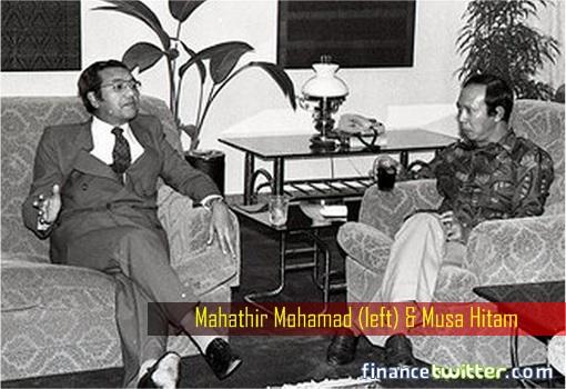 Mahathir and Musa Hitam 1980s Photo