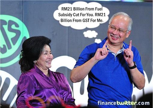 Najib Jokes With Rosmah - RM21 Billion From Fuel Subsidy Cut and GST