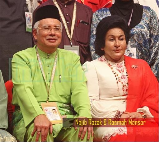 Najib Razak and Rosmah Mansor - Sitting
