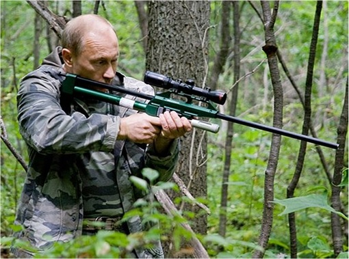 Putin Aiming with Rifle