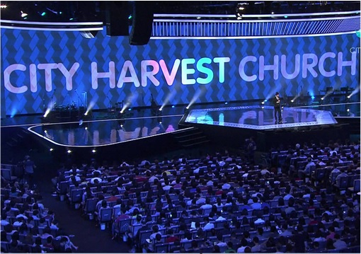 Singapore City Harvest Church - Internal Worshippers