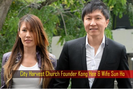 Singapore City Harvest Church - founder Kong Hee and wife Sun Ho