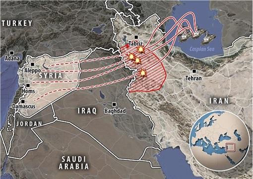 Syrian-Terrorist War - Russian Cruise Missile Kaliber Crashed into Iran