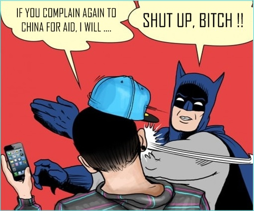 Tajuddin Abdul Rahman Six Million Dollar Man - Threaten to Slap Chinese - Slapped by Batman Comic