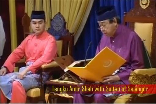 Tengku Amir Shah with Sultan of Selangor - Present Photo