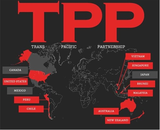 Trans-Pacific Partnership Agreement TPPA - 12 Nations