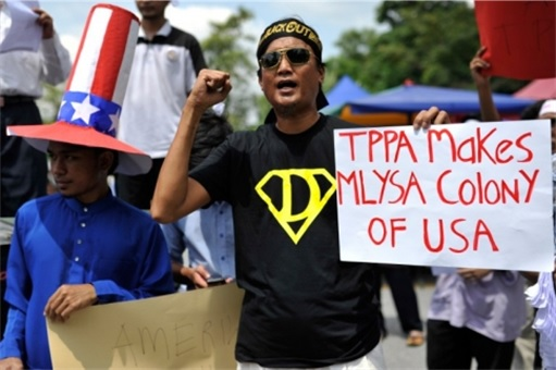 Trans-Pacific Partnership Agreement TPPA - Malaysian Protesters
