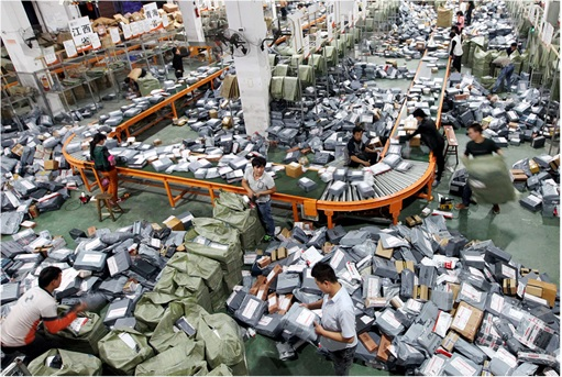 Alibaba Singles Day Sale 2015 Dashboard - Workers Packing and Logistic