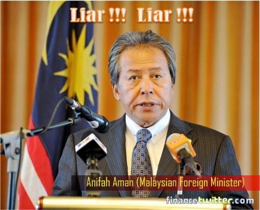 Anifah Aman - Malaysian Foreign Minister - Liar in Rizalman Rape Scandal