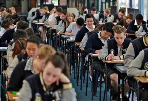 Australian Victorian High School Students Sitting for Exam