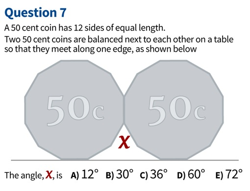 Australian Victorian High School Students - Two 50 Cent Maths Question