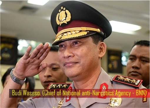 Budi Waseso - Indonesian Chief of the National anti-Narcotics Agency BNN)