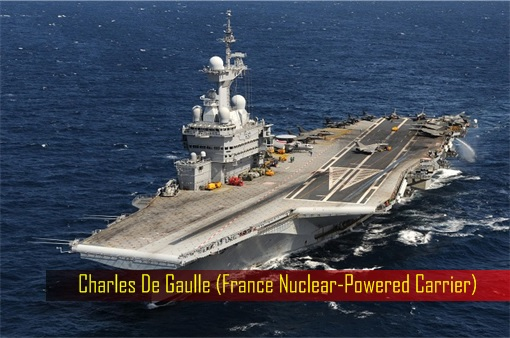Charles De Gaulle - France Nuclear-Powered Carrier