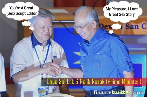 Chua Soi Lek Thanking Najib Razak - Sex Script Editor