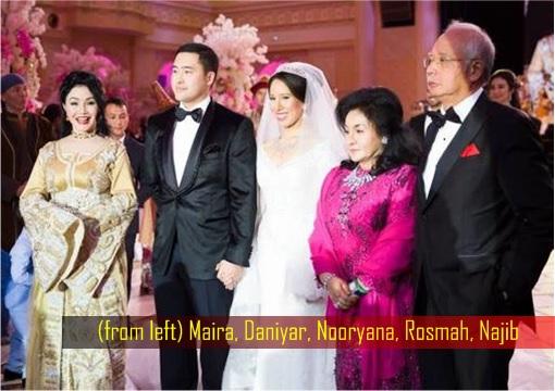 Daniyar Nazarbayev and Nooryana Najwa Wedding - Maira, Daniyar, Nooryana, Rosmah, Najib