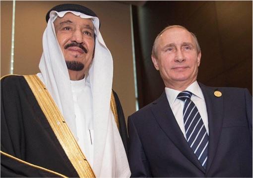 G20 Submit - Saudi King Salman with Russia Vladimir Putin