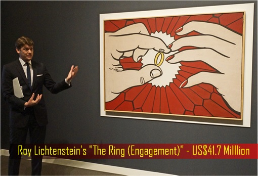 Hong Kong billionaire Joseph Lau - Roy Lichtenstein painting The Ring Engagement