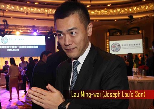 Hong Kong billionaire Joseph Lau's Eldest Son Lau Ming-wai