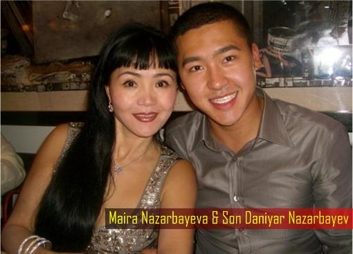 Maira Nazarbayeva and Son Daniyar Nazarbayev