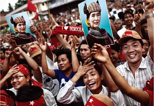 Myanmar Election in 25 Years - Voters Celebrate 2