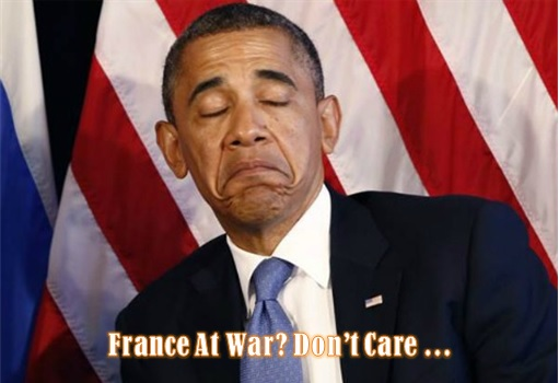 Paris Attacks by ISIS Terrorists - France At War But Obama Doesn't Care