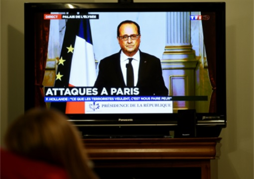 Paris Attacks by ISIS Terrorists - French President Francois Hollande on TV