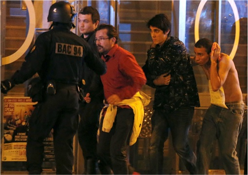 Paris Attacks by ISIS Terrorists - Police Directing Victims