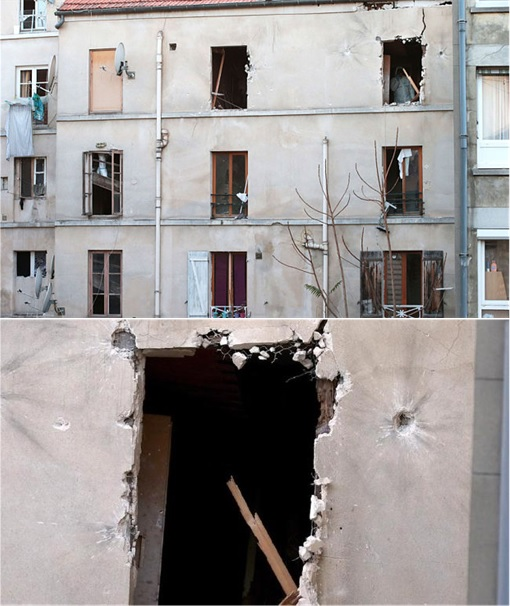 Paris Saint-Denis RAID - Damaged Apartment Building