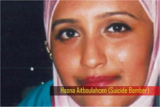 Paris Saint-Denis RAID - Hasna Aitboulahcen Suicide Bomber - Wearing Pink Hijab