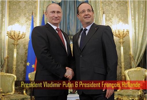 President Vladimir Putin and President François Hollande