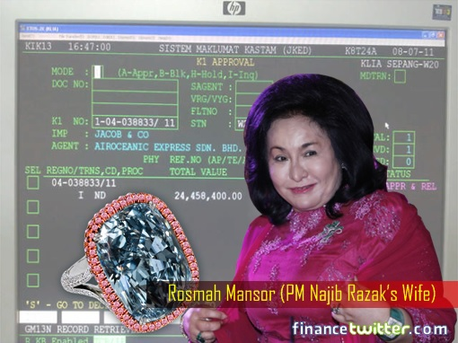 Image result for images of rosmah with her diamond