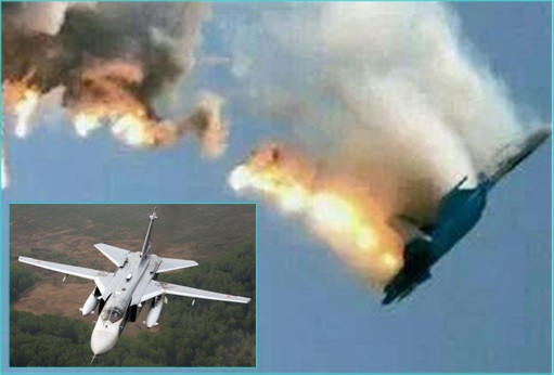 Russia Su-24 Shot Down - Video Clip