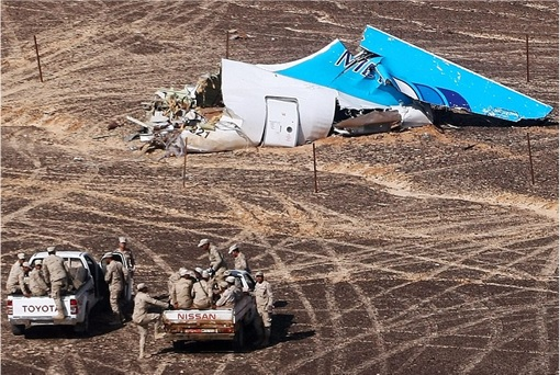 Russian Airbus A321-200 Flight 7K9268 Crash - Tail Wreckage 2