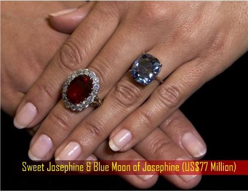 Sweet Josephine and Blue Moon of Josephine - diamonds worth US Dollar 77 Million