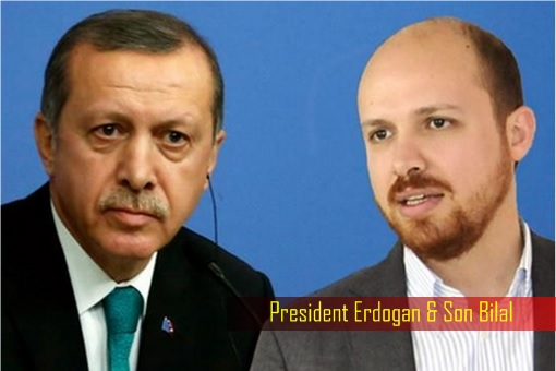 Turkey President Erdogan and son Bilal
