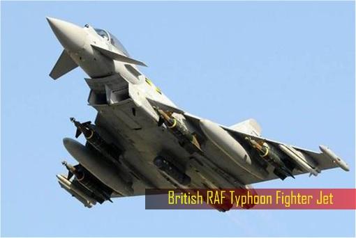 UK Britain Military Spending - British RAF Typhoon Fighter Jet