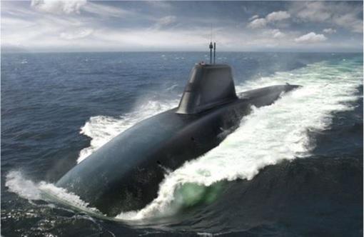 UK Britain Trident Nuclear Submarine - Sketch Design