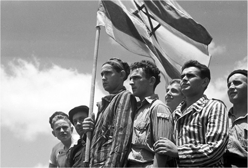 1948 Arab-Israel War - Raising Israel Flag