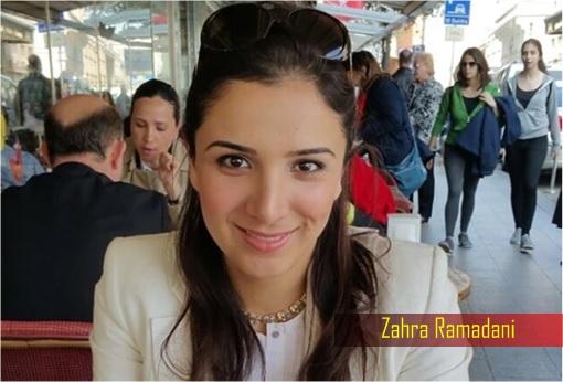 British Syrian-born Zahra Ramadani