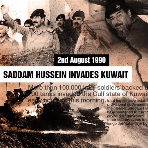 Iraq Saddam Hussein Invades Kuwait 1990