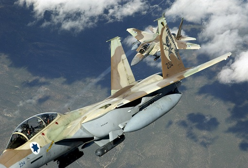 Israel Air Force F-15 In Action in Sky