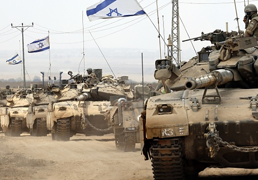 Israel Military Tank Unit In Action